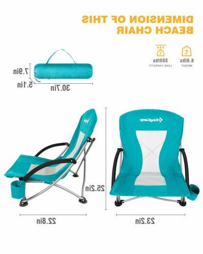 KingCamp Low Folding Chairs Camping Outdoor Out