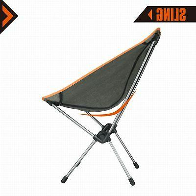 KingCamp Saucer Folding Round Chair Padded Seat