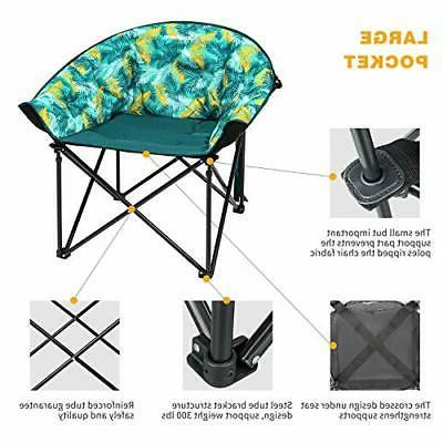 KingCamp Leisure Heavy Duty Steel Camping Chair Padded Green