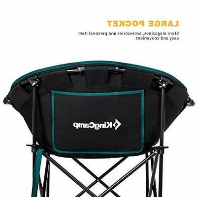 KingCamp Moon Saucer Heavy Chair Padded Seat Green