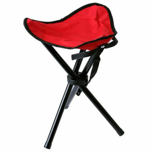 """L Size 20"""" Folding Chair Tripod Camping Stool Portable Trave"""