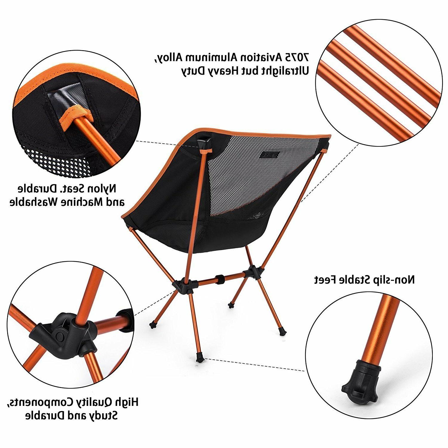 Lightweight Folding Camping Chair Outdoor Backpacking
