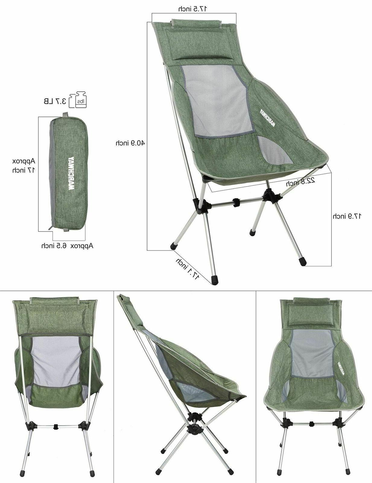 MARCHWAY High Camping Headrest Portable
