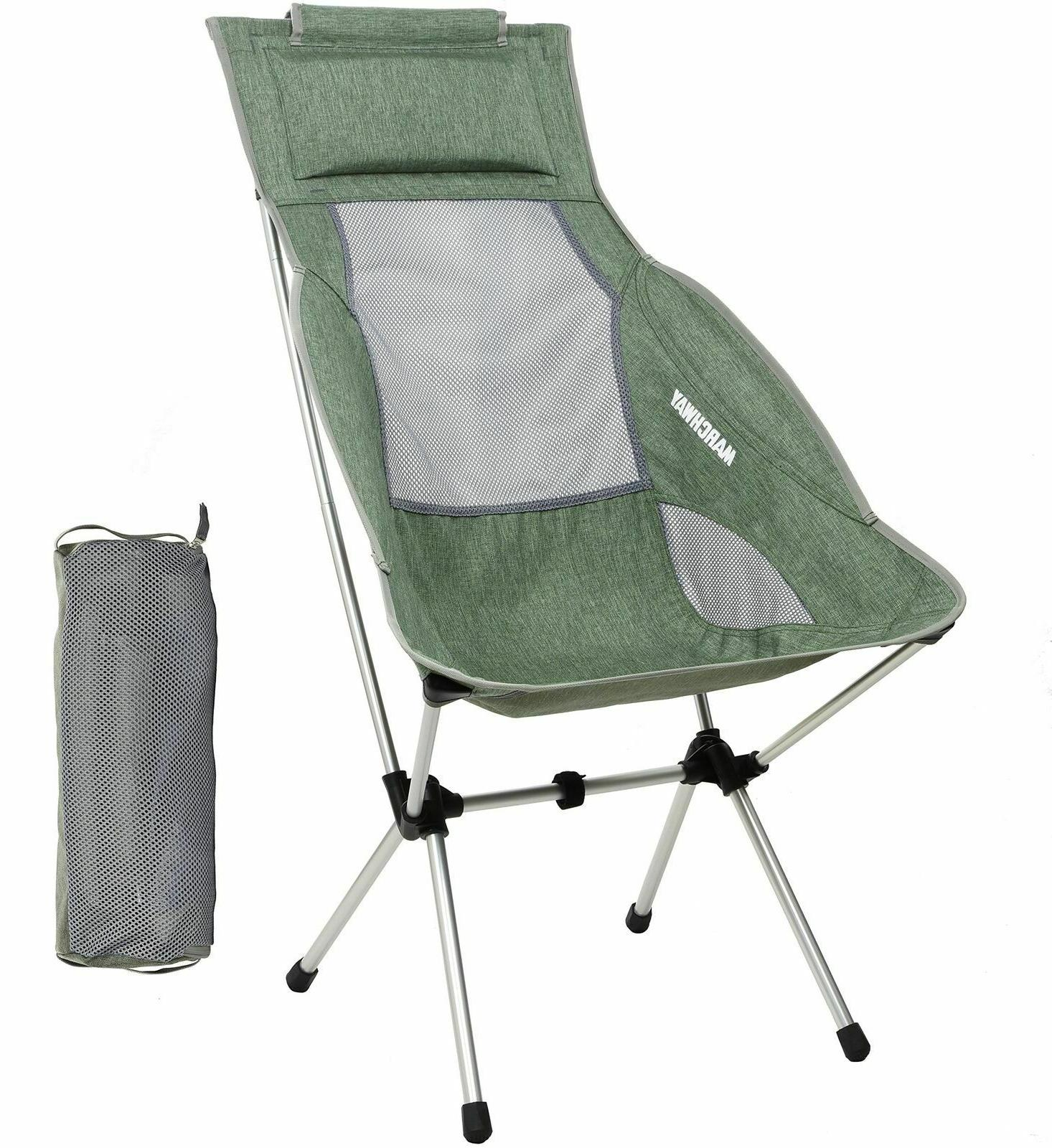 lightweight chairs folding high back camping