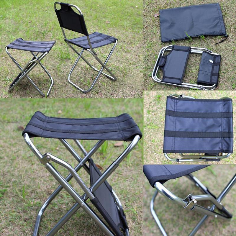 Lightweight Folding <font><b>Outdoor</b></font> Portable For Hiking Barbecue Casual Garden <font><b>Chairs</b></font>