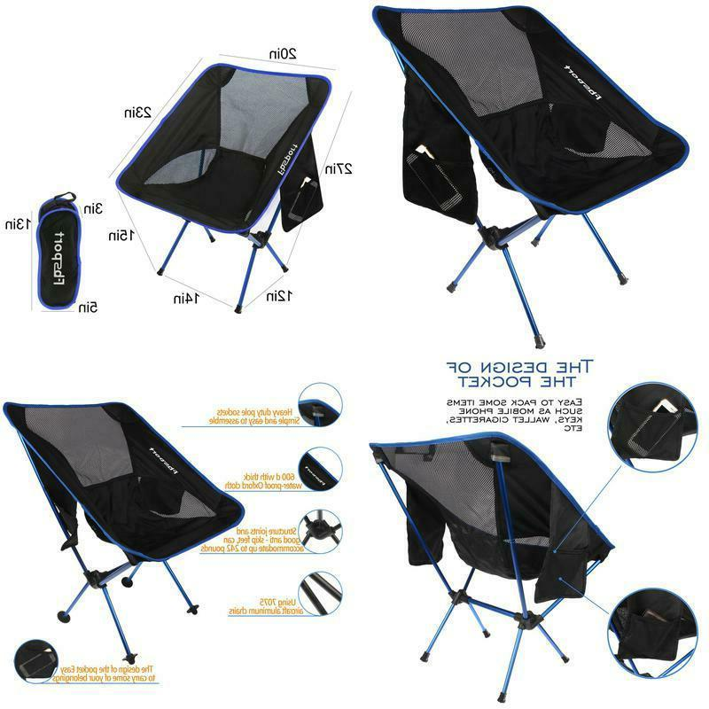lightweight folding camping backpack chair compact heavy