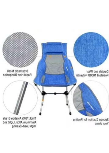 MARCHWAY Folding Back Chair Headrest, Portable