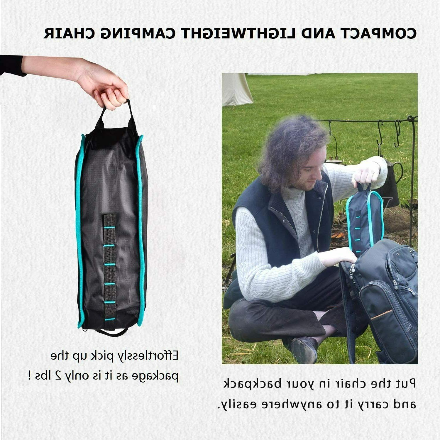 Lightweight Heavy Folding Camping Chair Fishing Picnic Hiking