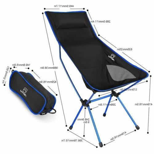660LBS Heavy Duty Folding Camping Chair Seat Outdoor