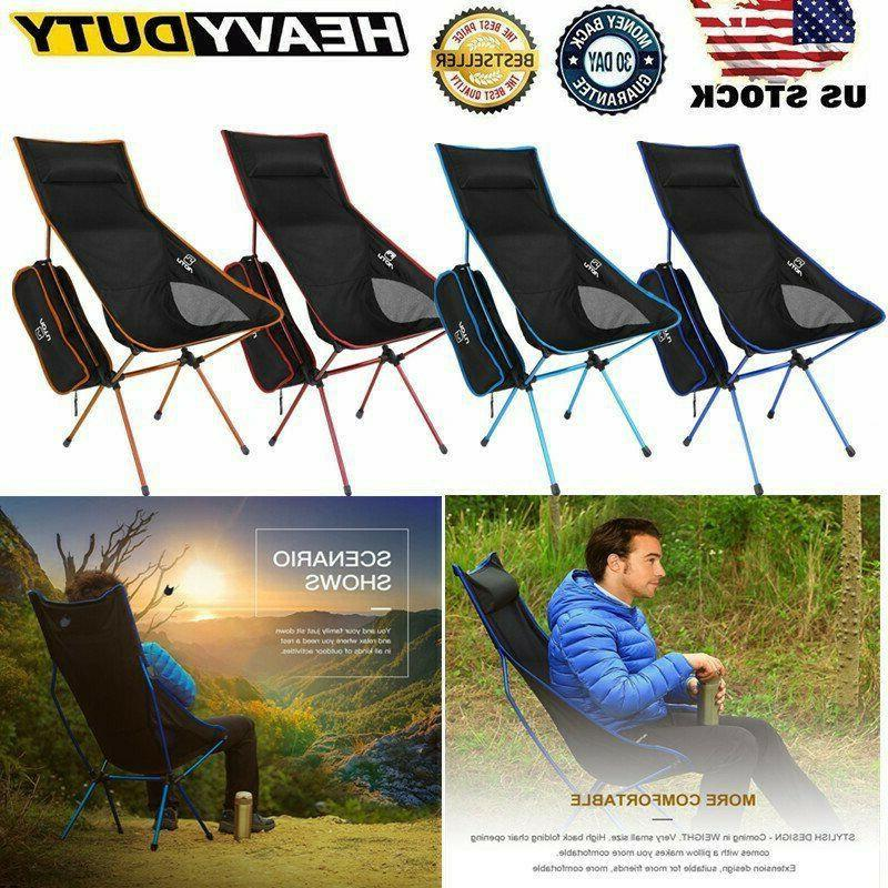 Outdoor Portable Lightweight Folding Camping Chair Backpacki