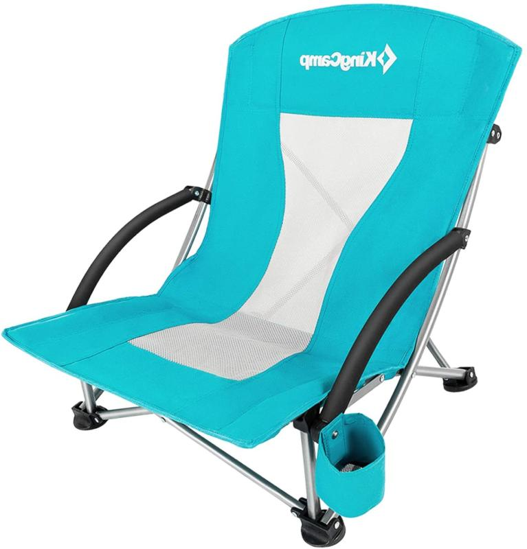 KingCamp Low Beach Chair for Camping Law, and High