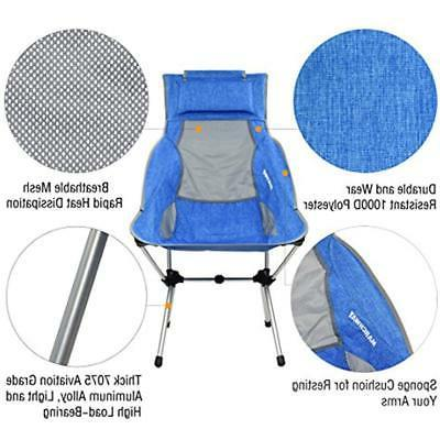 MARCHWAY Folding High Back Camping Headrest,