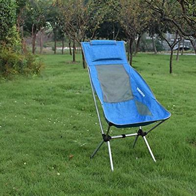 MARCHWAY Lightweight Chairs Folding High Back Camping Headrest,