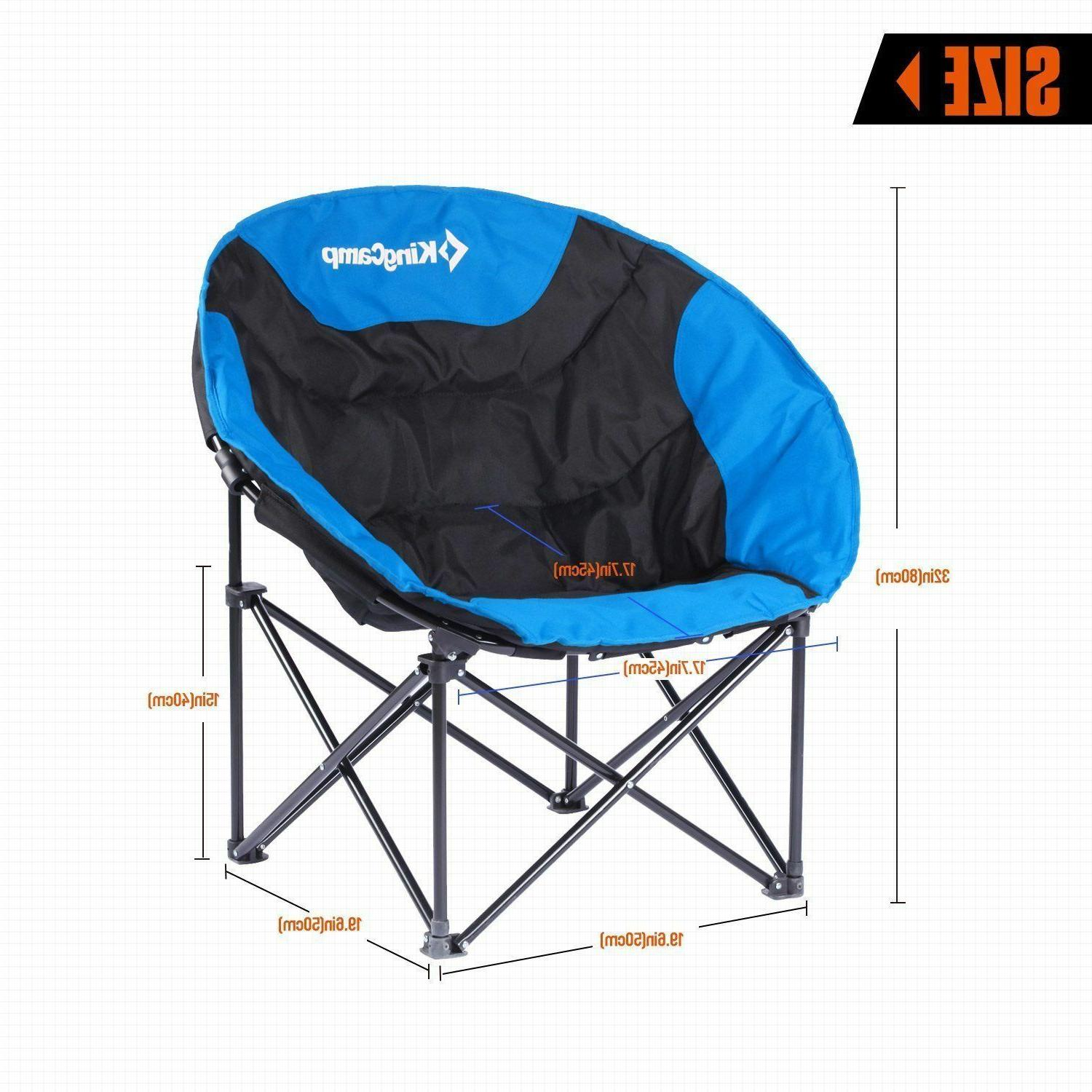 KingCamp Moon Camping/Fishing Chair with Carry Bag,