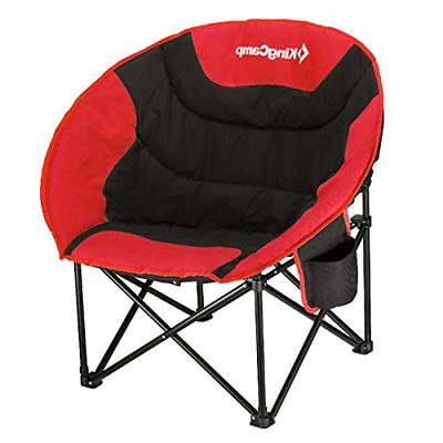 KingCamp Moon Saucer Camping Chair Cup Holder Steel Frame Fo