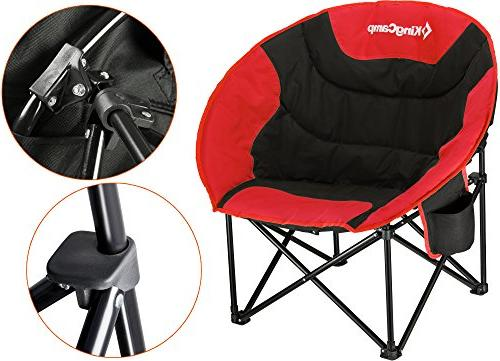 Kingcamp Moon Saucer Camping Folding Round Chair Padded