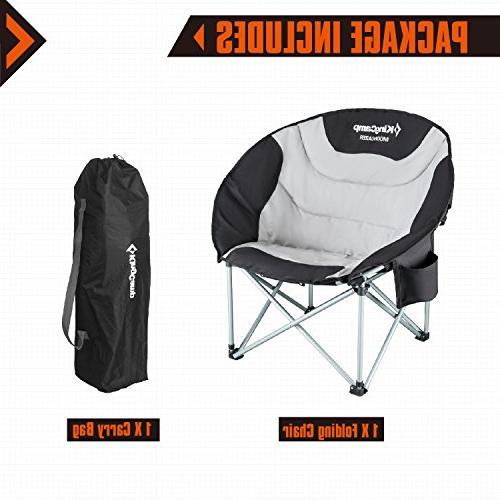 KingCamp Moon Heavy Duty Chair with Cooler Bag