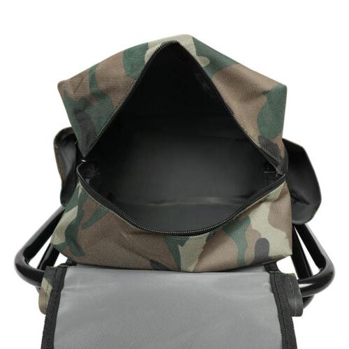 Portable Folding Camping Chair Stool Bag Beach Backpack