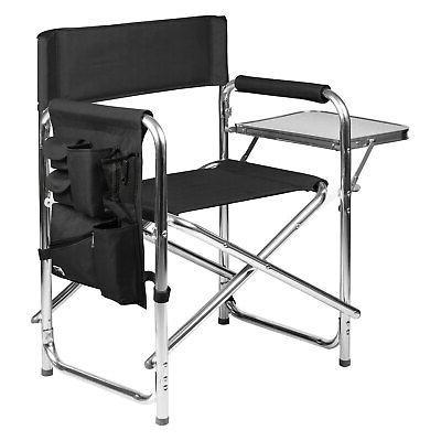 Picnic Time Florida State Sports Chair - Polyester Black Sea