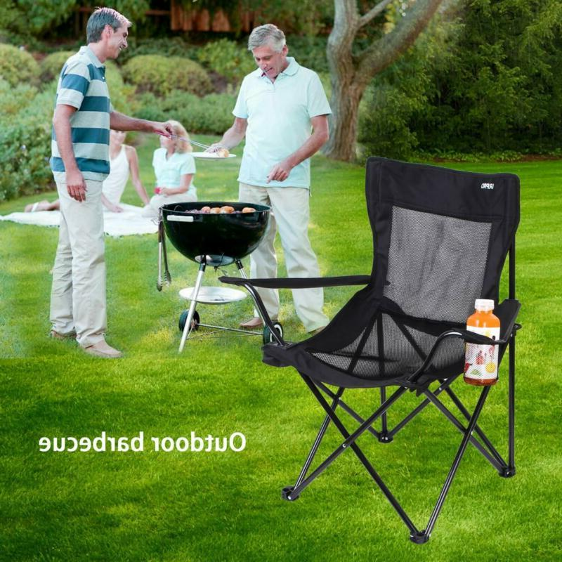 NEW Heavy Duty Chair Camp Adults Sport-Steel Holder