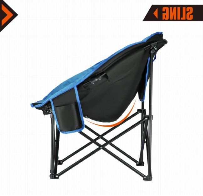 New Camping Chair With Cup Holder Comfortable Bag