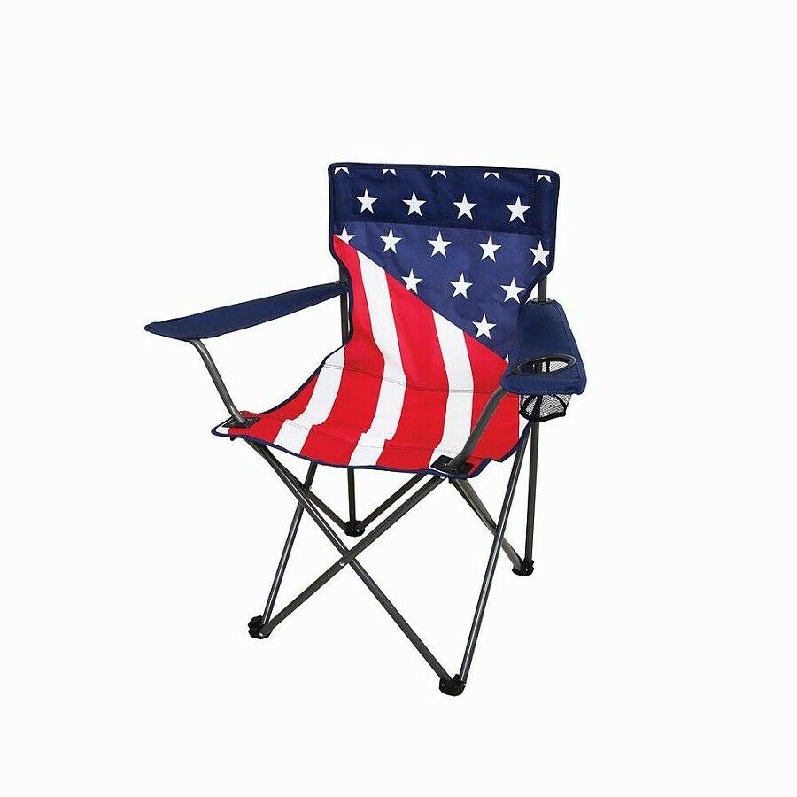 Outdoor Camping Chair Compact Folding Frame Mesh Cup Holder