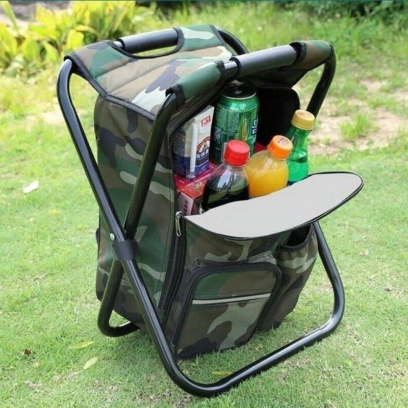 Outdoor Camping Backpack 2 Stool Fishing Chair Hiking Seat