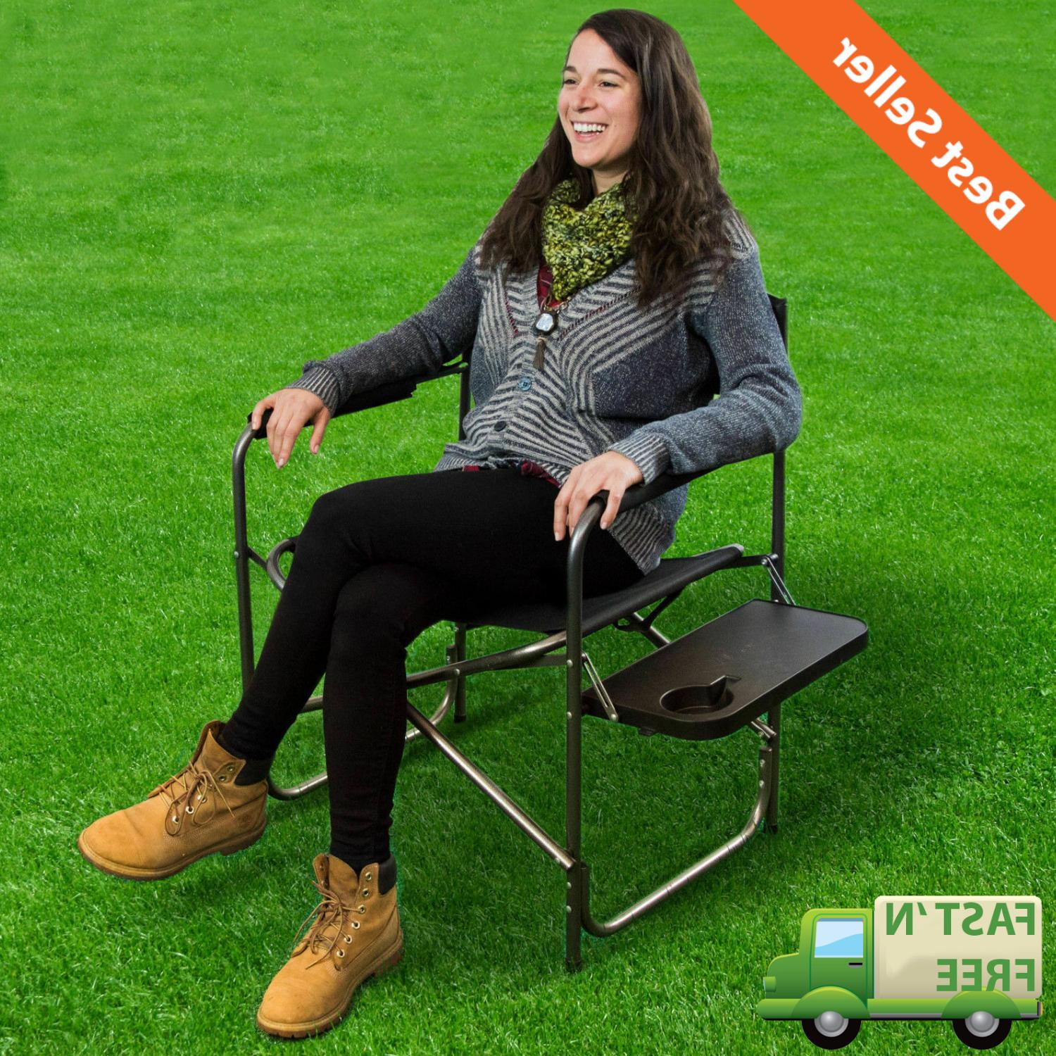 outdoor camping folding heavy duty chair w