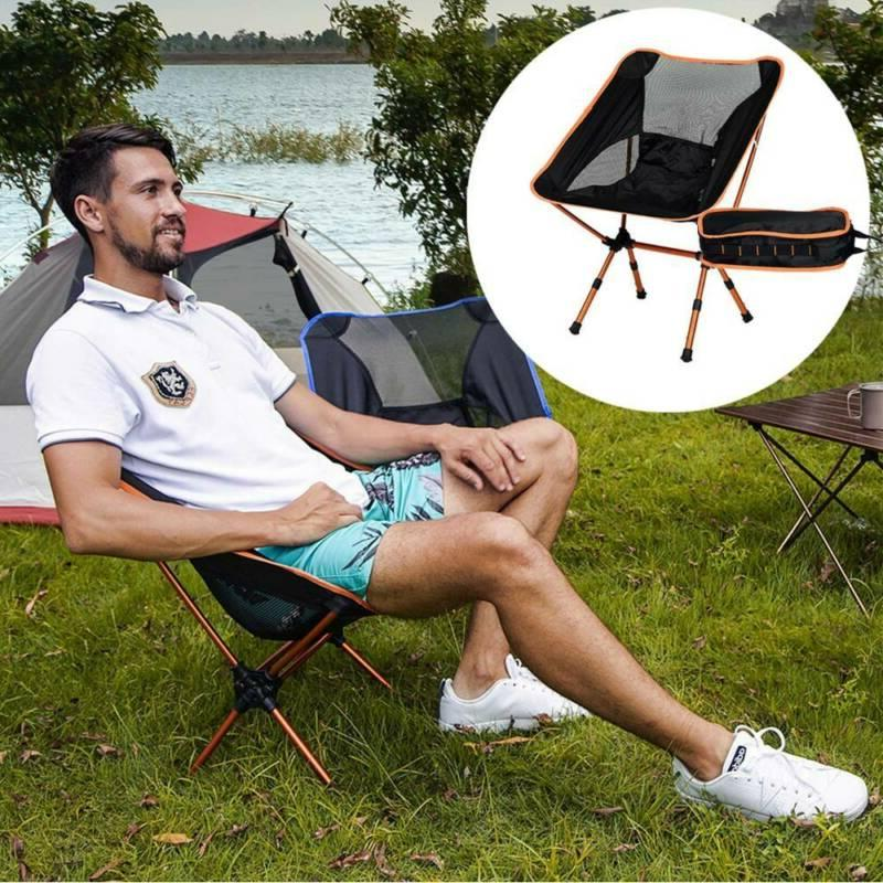 outdoor portable folding camping chair backpacking hiking