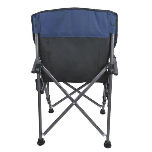 Outdoor Recliner Camping Folding Rocking Cup Holder