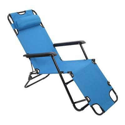 Outdoor Reclining Chaise Lounge Bed Chair Pool Patio Camping