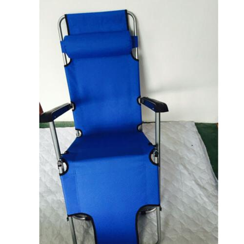 Outdoor Reclining Lounge Bed Chair Camping Relax