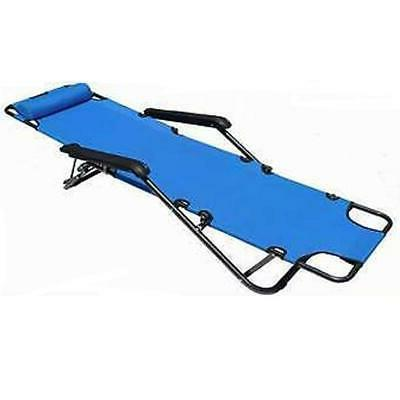 Outdoor Reclining Bed Pool Patio Camping Cot Portable Relax