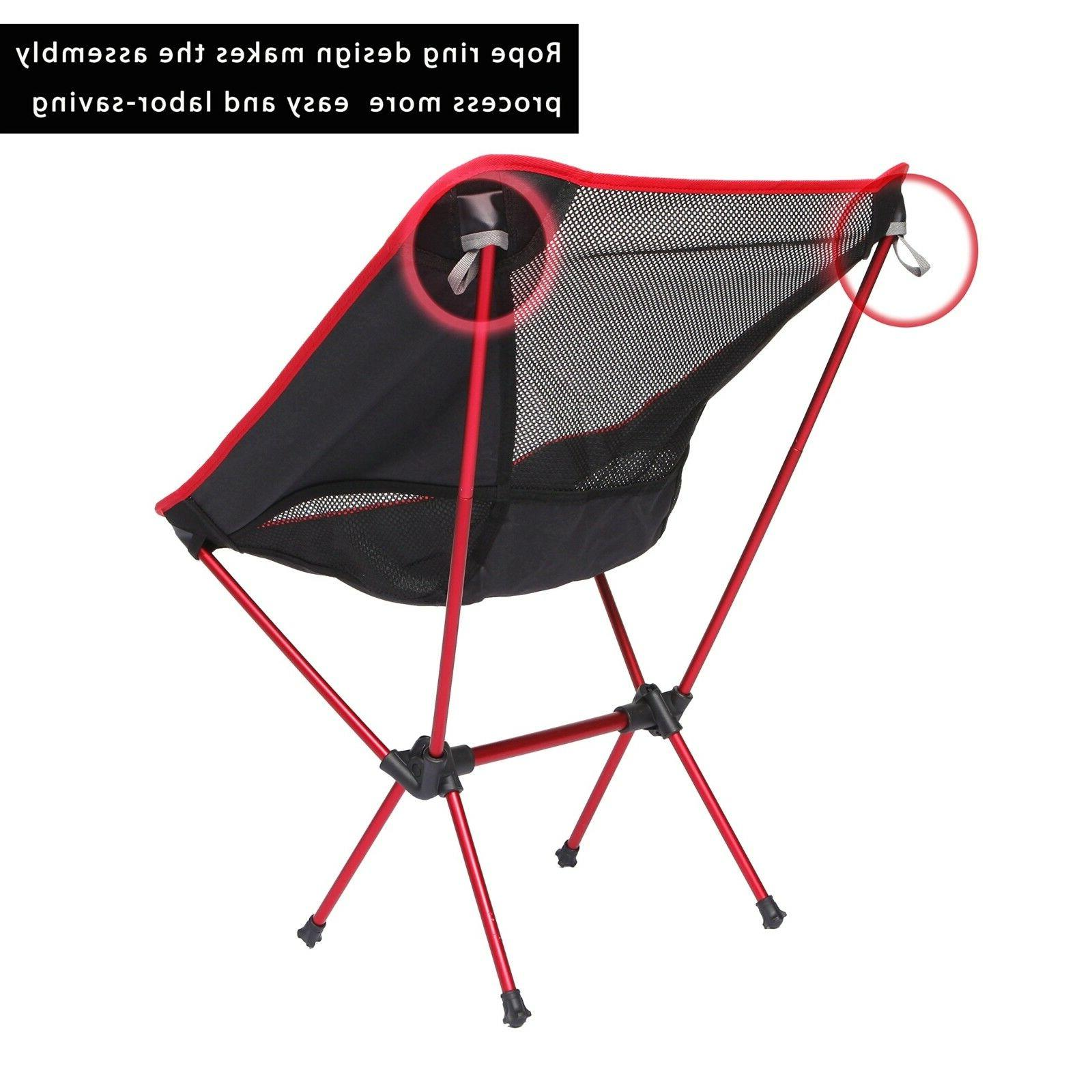 Outdoor Ultralight Chairs with Carry Bag Camping, Beach Chair