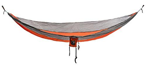 Outpost Hammock With Adjustable LiteSpeed Buckle Suspension System- Includes 11' 100% Polyester Wire Gate Carabiners- Single or Size- Parachute Nylon
