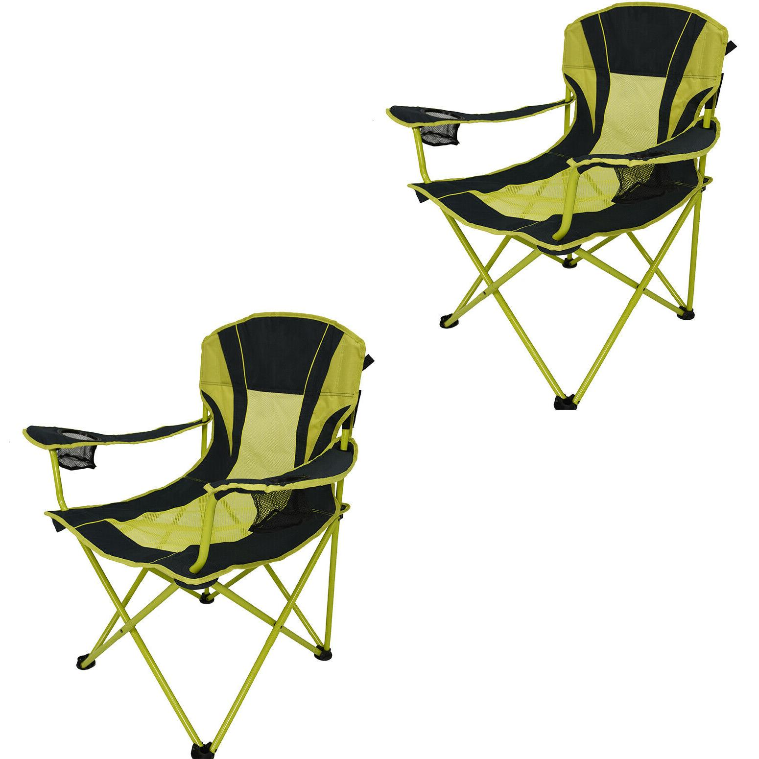 Oversize Mesh Folding Camping Chair 2-Pack Camp Patio Lawn R