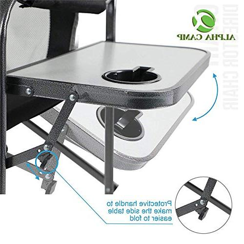 Director Chair Frame Collapsible Table, Supports -