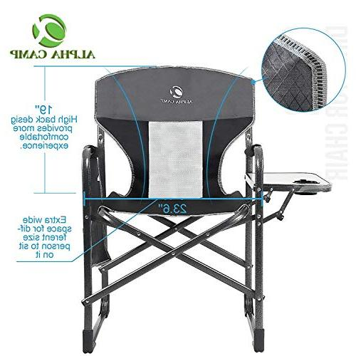 ALPHA CAMP Oversized Camping Frame Table, Supports - Grey/Black