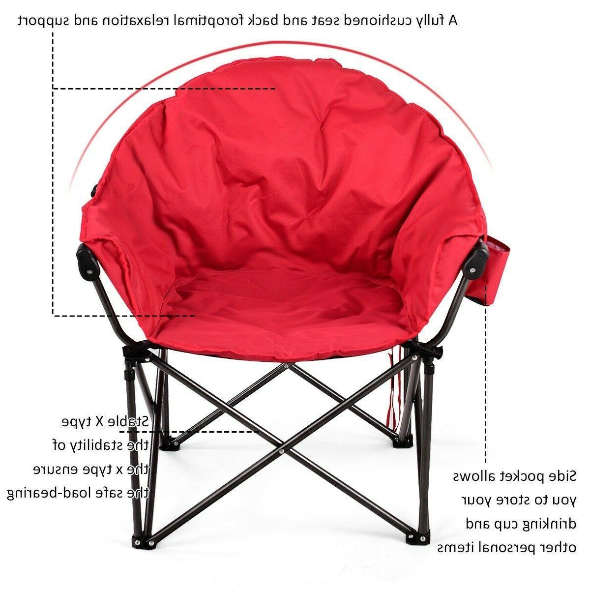 Oversized Moon Foldable Camping Saucer Hiking Furniture