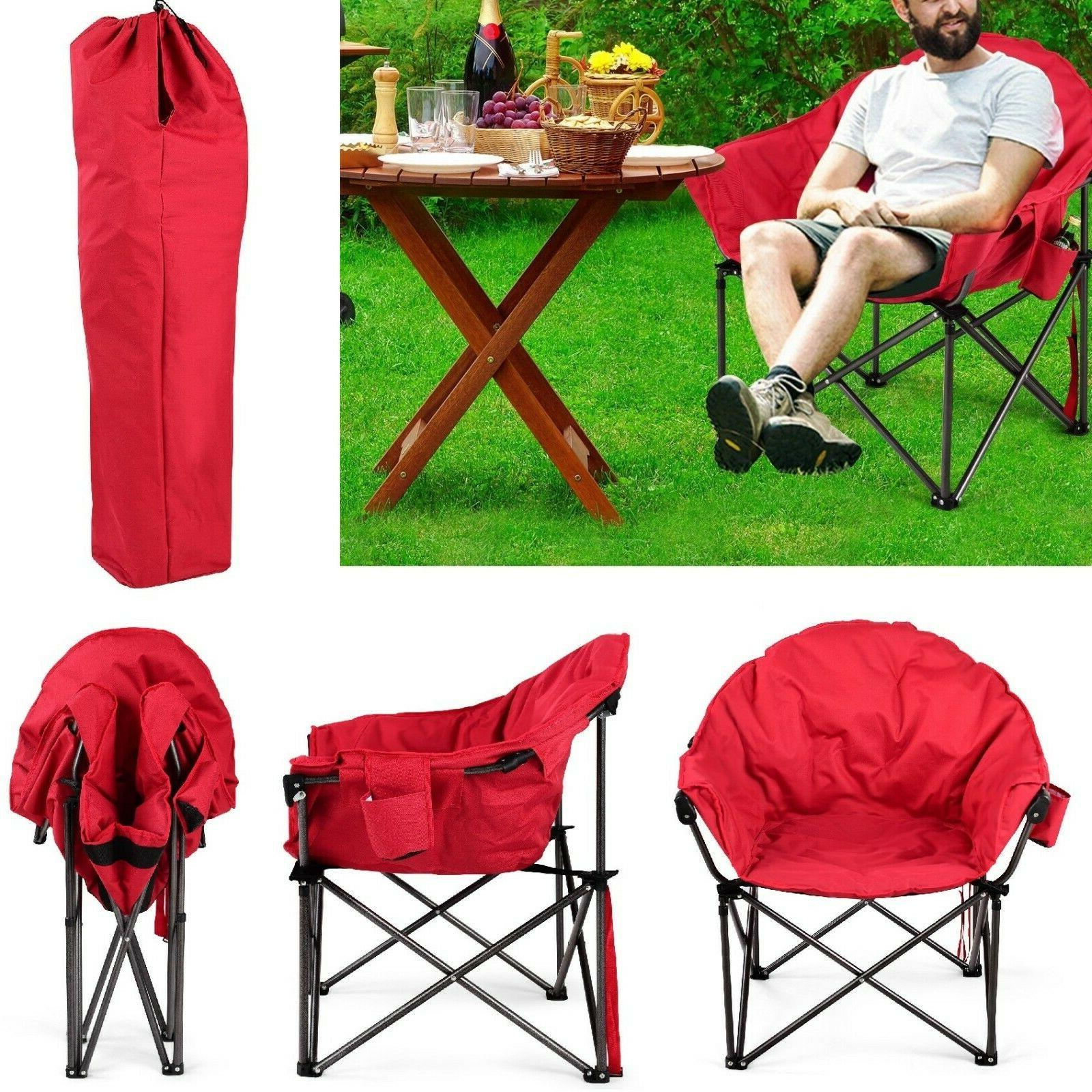 oversized moon chair foldable camping saucer chairs