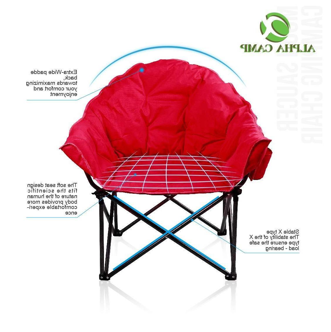ALPHA CAMP Saucer Chair with Cup Carry Bag