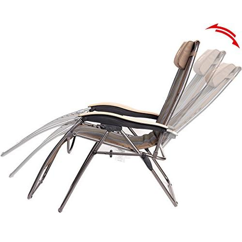 Timber Locking Patio Chair Oversize Padded Adjustable with Support