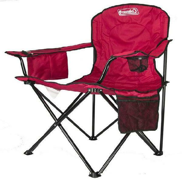 Coleman Oversized Camp Chair with Pouch, Red