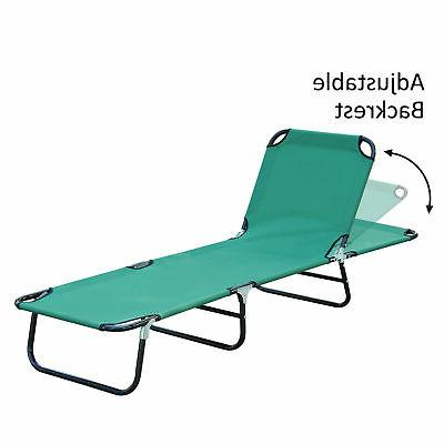 Patio Foldable Chaise Lounge Sun Recliner