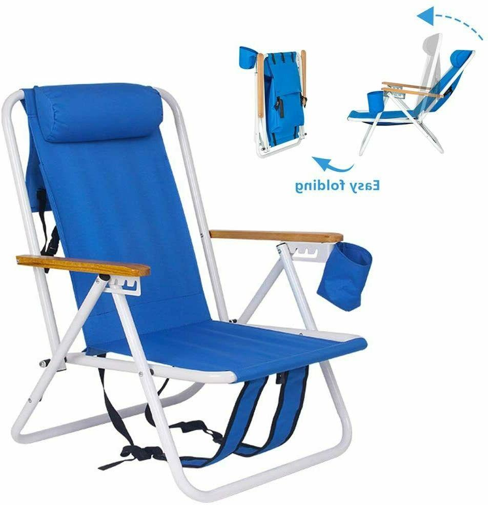 Portable Beach Lounge Chair Outdoor Camping Fishing Patio Fo