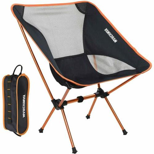 Awesome Marchway Portable Camping Chair Adjustable Height Compact Ultralight Gifts Camp Evergreenethics Interior Chair Design Evergreenethicsorg