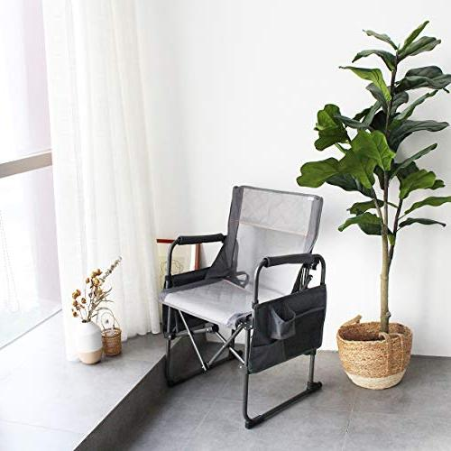 Zenree Portable Director's Duty Chairs with Armrest Holder Bag,