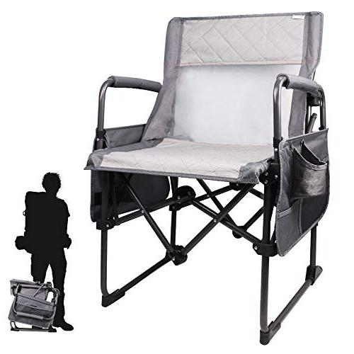 portable camping director s chair breathable mesh