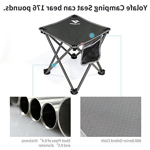 Portable Camping Stool, Chair Camping Hiking Gardening and Grey Bag