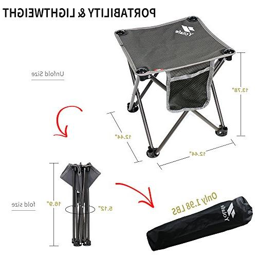 Portable Chair for Camping Hiking Gardening Grey Bag